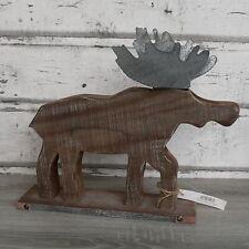 Lustiger Elch Holz Ren Tier Figur Kinder Spielzeug KTier01