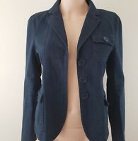 Marc Jacobs Jacket Blazer Cotton Navy Blue Size 6