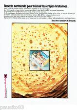 PUBLICITE ADVERTISING 066  1972  le beurre  Elle & Vire de Normandie les crepes