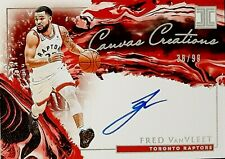 2019-20 Panini Impeccable Canvas Creations Autographs #26 Fred VanVleet AUTO /99