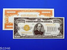 Reproduction $10,000 1934 Gold US Paper Money Currency Copy