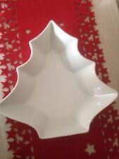 Tannenbaum Schale Weiß Porzellan 27 cm Schüssel