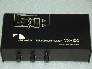 Nakamichi Microphone Mixer MX-100 - Made in Japan