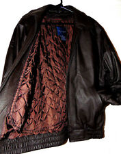 TOWNCRAFT MENS LEATHER JACKET BROWN ALL SEASON LEATHER BOMBER JACKET SZ ML