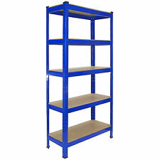 4 Garage Shelving Racking Heavy Duty Steel Boltless Warehouse Unit 5 Tier 75cm