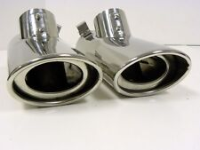 00-06 MERCEDES BENZ S CLASS AMG STAINLESS STEEL EXHAUST PIPE TIPS W220 PAIR