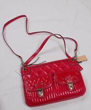 NWT COACH Poppy Quilted Leather Pocket Hippie Crossbody #19856 Fuchsia