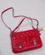 NWT COACH Poppy Quilted Leather Pocket Hippie Crossbody #19856 Fuchsia