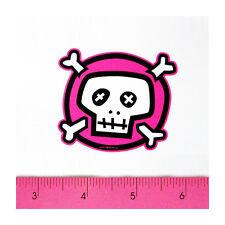 Skateboard Car Window Bumper Laptop 3M Matte Decal Sticker - Cute Pink Skull