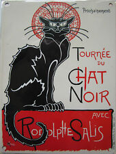 New 30x40cm Chat Noir French cat reproduction vintage metal advertising sign