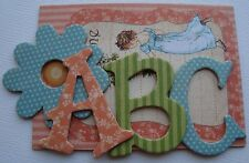 Graphic 45 - APRiL FAiRiES -  A Place in Time  Alphabet Chipboard Letters 1.5""