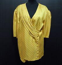 CULT VINTAGE '80 Camicia Donna Pois Rayon Woman Shirt Sz.XL
