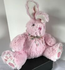 """13"""" Pink Bunny with Carrot Print Ribbon Plush Toy"""