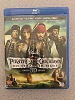 Pirates of the Caribbean:On Stranger Tides 3D Blu-ray/DVD, 2011, 5-Disc +Digital
