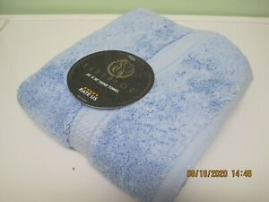 Superior Egyptian cotton towels, by Home City Inc, light blue, 3 size available