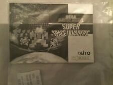 SEGA GAMEGEAR SPACE INVADERS INSTRUCTION MANUAL ONLY