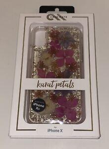 Brand NEW Case-Mate Karat case for iPhone X & iPhone XS (10) - Purple Petals