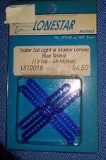 HO Lonestar Trailer Tail Light & Marker Lenses Blue 12 Tail,48 Marker LS12018