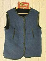 Levis Made Crafted Blue Black Fur Reversible Bodywarmer Traveller Vest £195 M