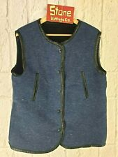 Levis Made Crafted Blue Black Fur Reversible Bodywarmer Traveller Vest £195 M