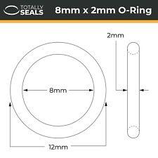 8x2 Silikon ( Vmq ) O-Ringe 8mm Innendurchmesser X 2mm Kreuz Bereich (12mm mm)