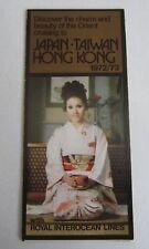 Old Vintage 1972 Royal Interocean - JAPAN TAIWAN HONG HONG - STEAMSHIP Brochure