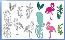 Heartfelt Creations Stamp & Die Combo ~ TROPICAL PARADISE Birds -3783, -7137