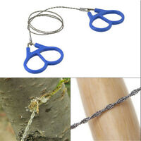 """21.6"""" Hiking Camping Stainless Steel Wire Saw Emergency Travel Survival Gear JT"""