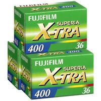 3x Fujifilm Superia X-TRA 400 36 Exposure Colour Print Film 35mm NEW UK - 3 PACK