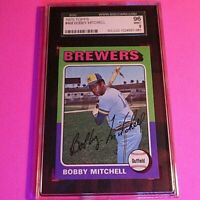 1975 Topps #468 Bobby Mitchell,  Graded MINT SGC 9 (96), Brewers,