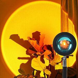 Projektionslampe Sonnenuntergang Sunset Regenbogen Sonne USB LED Projektor Licht