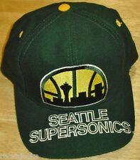 Seattle SuperSonics Vintage Snapback hat Original 90s AJD SONICS Kemp Payton Yrs