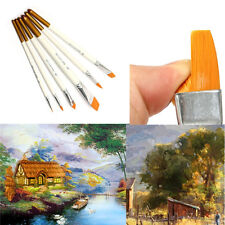 6pcs Professional Drawing Set Kit Acrylic Oil Watercolor Artist Paint Brushes