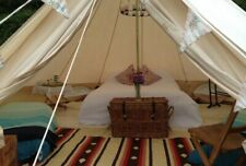 5M Bell Tent Outdoor Family Yurt Glamping Camping Teepee Renaissance Stove Jack