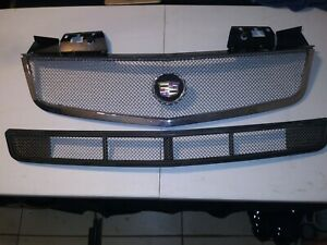 ✅  2003-2007 Cadillac CTS CTS-V CHROME Metal Upper&LowerGrille Grill Mesh 03-07