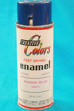 VINTAGE CREATIVE COLORS FAST DRYING ENAMEL SPRAY CAN - MARINE BLUE - EMPTY   -