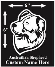 Australian Shepherd Custom Dog Name Car Decal