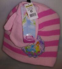 TODDLERS 2 PC SET 1 HAT 1 PR MITTENS 1 SIZE FITS MOST DISNEY PRINCESS PINK A-20