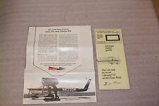 Vintage 1966 Cessna ISO Sales Letter Brochure with Savings Meter RARE Aviation