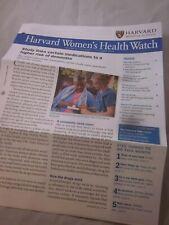 HARVARD MEDICAL SCHOOL HARVARD WOMEN'S HEALTH WATCH NEWSLETTER OCTOBER 2019 NEW