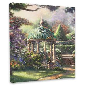 Thomas Kinkade Gazebo of Prayer 14 x 14 Gallery Wrapped Canvas