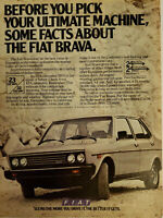 FIAT BRAVA 1979 One-Page Vintage Print Ad Advertisement Approx. 8x11in
