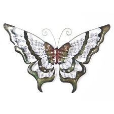 Large Stunning Butterfly Metal Wall Art Design with Clear Coloured Jewels