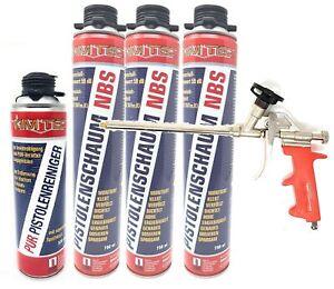 5er Set 1k PUR- Pistolenschaum NBS Made in Germany Bauschaum Pistolenreiniger