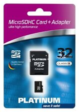 Platinum 177320 Micro SDHC Card 32 GB Class 6 Incl. SD Adapter