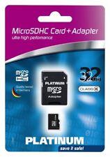 PLATINUM 177320 Micro SDHC Card 32 GB Class 6 incl. SD-Adapter