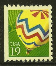 US Scott #2530, Single 1991 Hot Air Balloon 19c FVF MNH