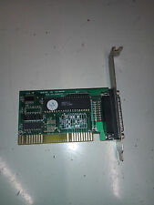 Vintage Parallel Port ISA Card No Drivers Needed Non PnP Part Number LJKMPIOI
