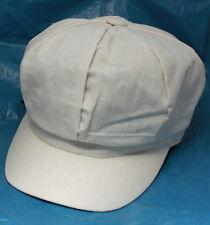 Beige 100% Cotton Baker Boy Cap Hat Womens Ladies One Size Bargain Summer Weight