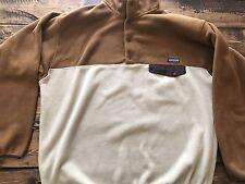 PATAGONIA Men's Synchilla Snap T Fleece Jacket Brown Tan Size XXL